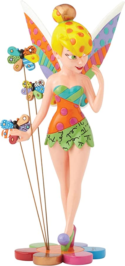 Resina Enesco Multicolor Disney Figura de Campanilla de Peter Pan por Romero Britto