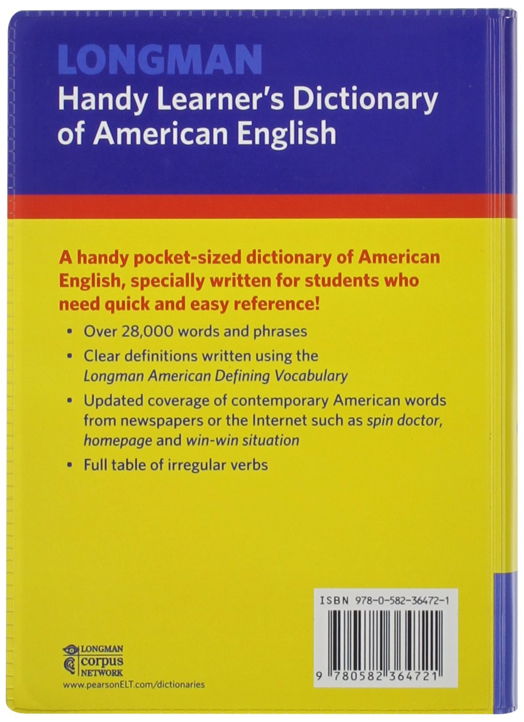 Longman Handy Learner's Dictionary of American English, Flexicover (Lhld):  Pearson Education: 9780582364721: Amazon.com: Books