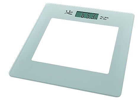 Jata Hogar 290 Báscula electrónica de Cristal con Visor LCD, Blanco