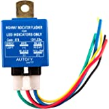 Autofy LIGHT0155 Universal Highway LED Indicator Flasher for LED Indicators (Blue, 25 Patterns)