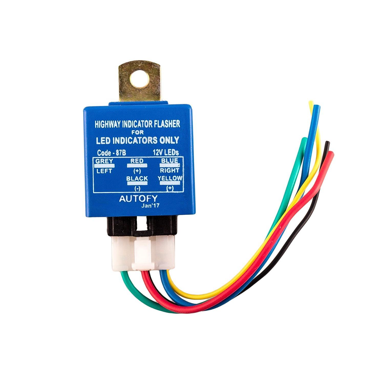 Autofy Light0155 Universal Highway Led Indicator Flasher For Power 220v Flashing Low Current Circuit Indicators Blue 25 Patterns Car Motorbike