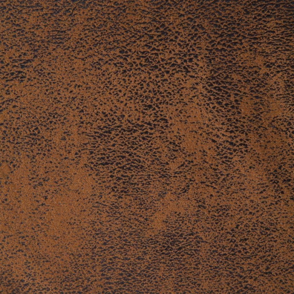 Festnight Div/án Tumbona Sill/ón Relax de Cuero Sint/ético Marr/ón 155 x 51 x 71 cm