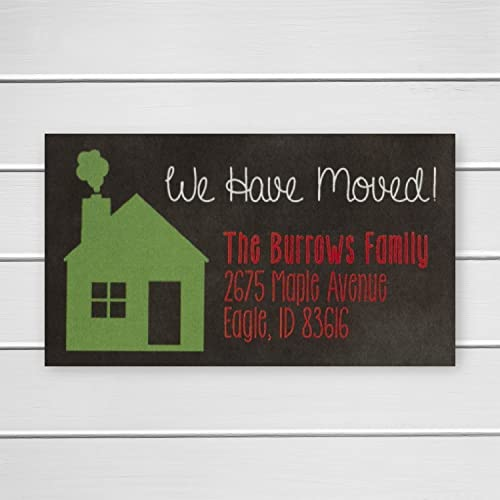 40ct chalkboard christmas address labels we have moved address labels new home address