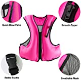 Faxpot Inflatable Life Jacket Adult Swimming Vest