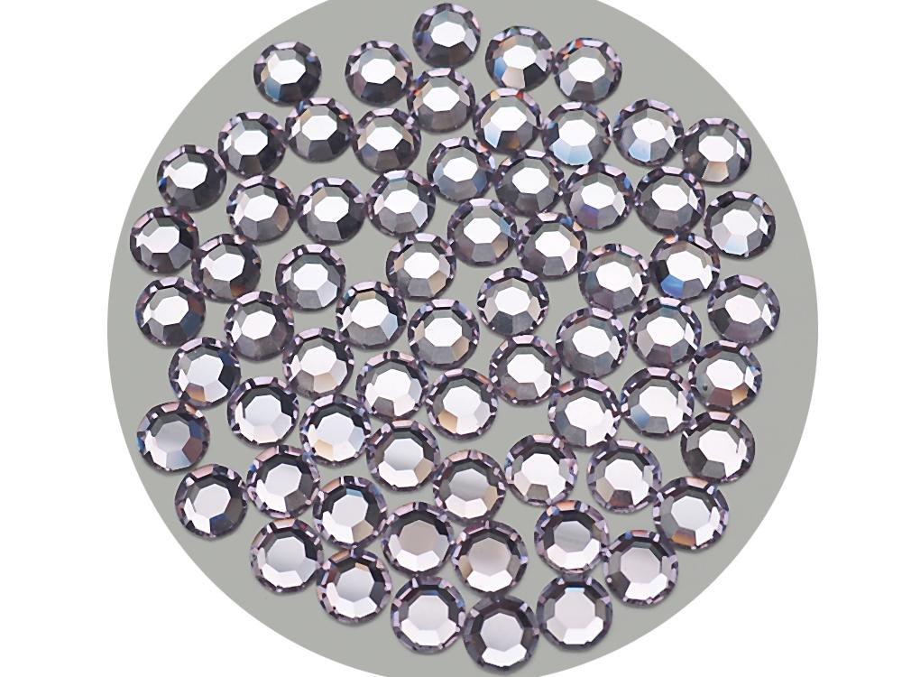 バイオレット、Preciosa本物チェコクリスタル、8-facetedラインストーンFlatbacks、サイズss40 ( 8.5 mm ) ~ 144pcs   B076JT8252