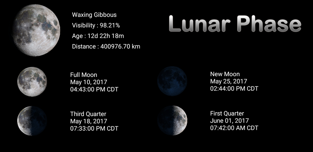 Lunar Phase - Moon Phases Calendar & Widget