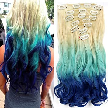 Ombre Bunt amazon com 22 hair extensions curly ombre three tone
