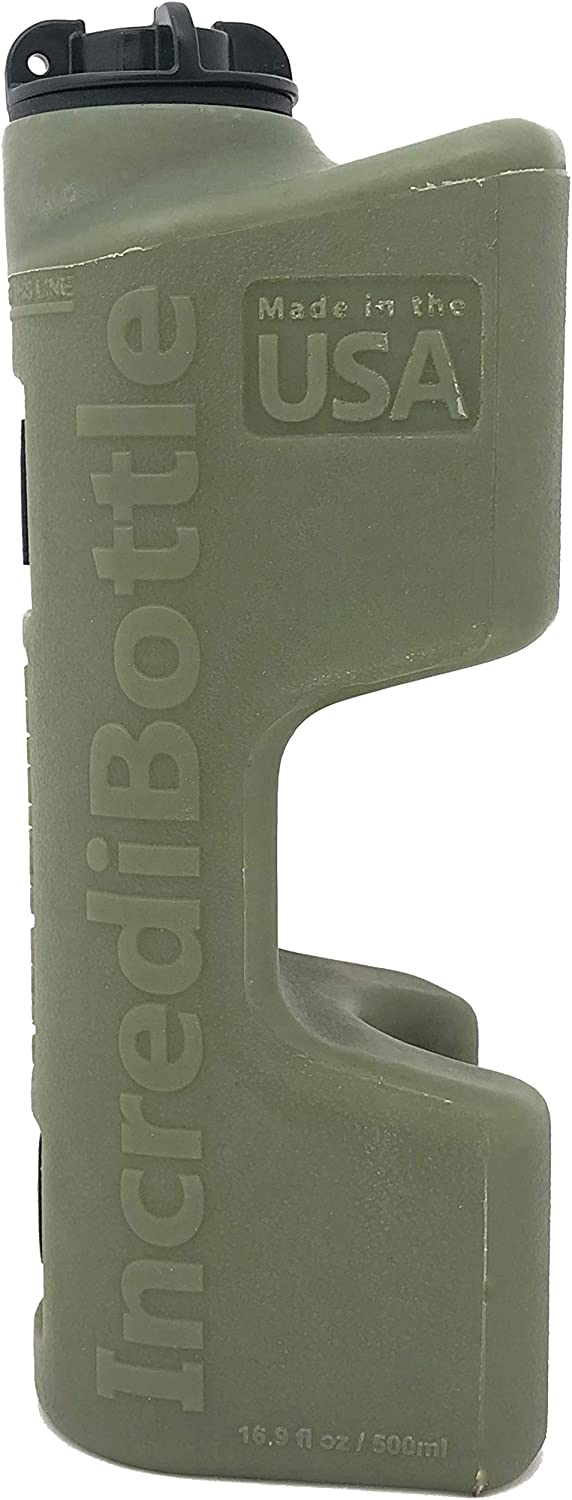Spare Gas Can that Mounts Directly to Your Tools and Off-Road Vehicle Incredibottle 16.9 oz Gas Reserve Bottle Single, OD Green