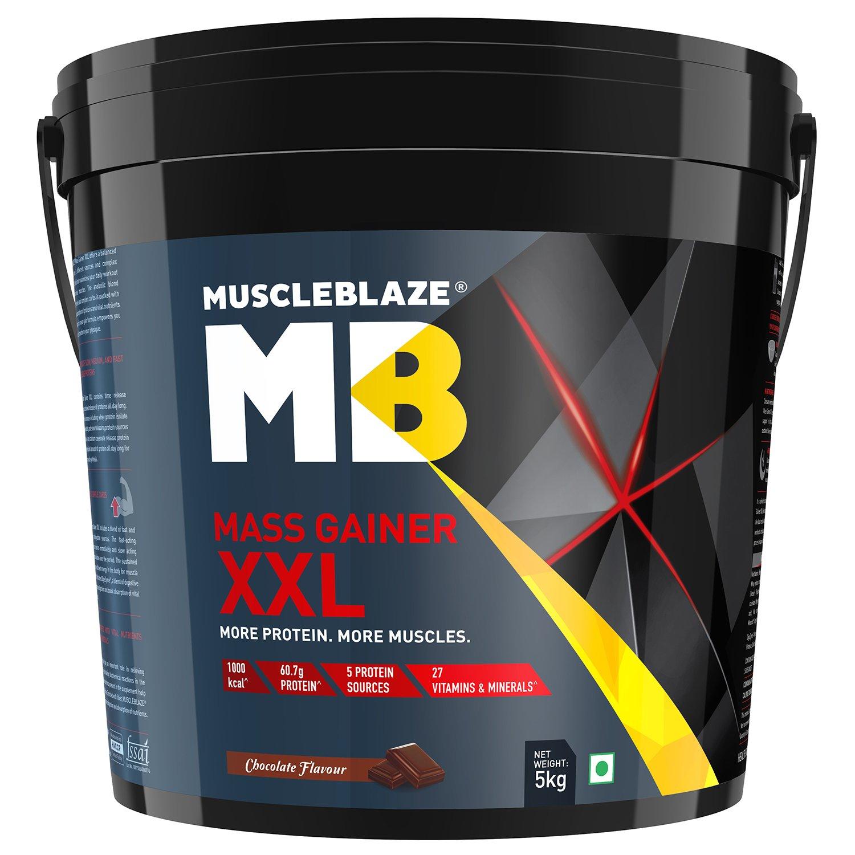 MuscleBlaze Mass Gainer XXL 11 lb 5 kg Chocolate
