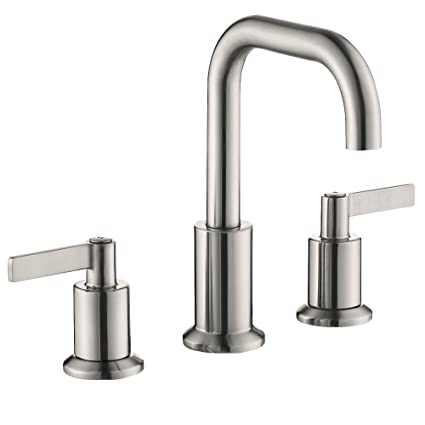 TimeArrow TAF288S BN Two Handle 8 Inch Widespread Bathroom Sink Faucet With  Pop Up