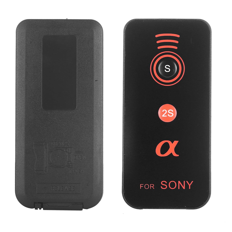 Kamisafe IR Wireless Remote Control for Sony Alpha Camera A7R III A9 A7R II A7 II A7 A7R A7S A6500 A6300 A6000 A55 A65 A77 A99 A900 A700 A580 A560 A550 A500 A450 A390 A380, NEX-7 NEX-6 NEX-5T NEX-5R