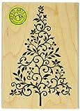 Hero Arts Branch and Flourish Tree Woodblock Stamp
