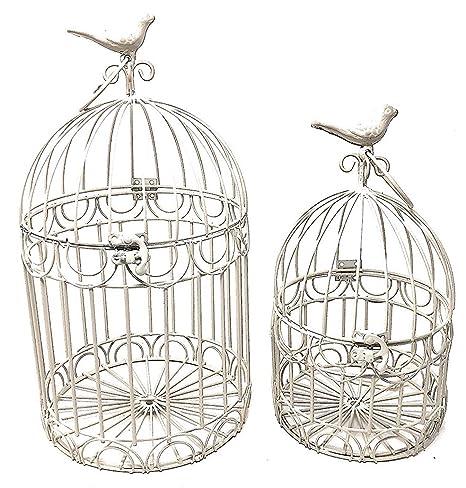 Juego de 2 jaulas decorativas para pájaros, para boda, recepción ...