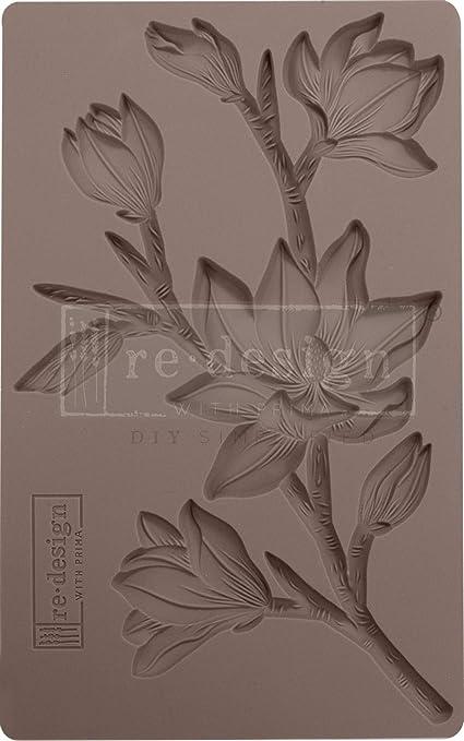 Winter Blooms Prima re/·Design 5 x 8 Silicone Mould