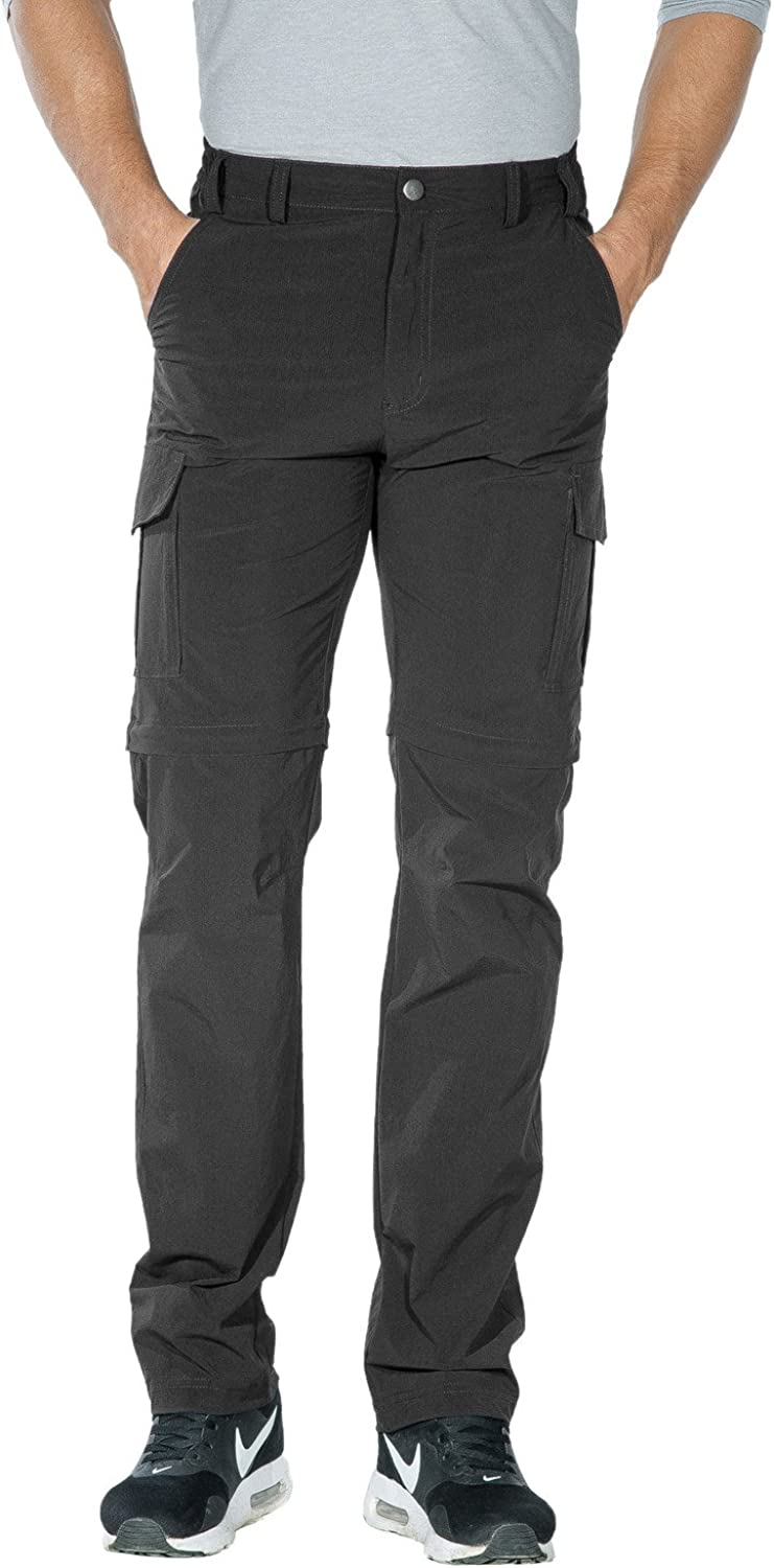 Nonwe Men's Outdoor Water-Resistant Quick Dry Convertible Cargo Pants