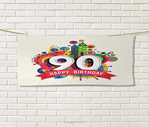 Anniutwo - Vela de 90 cumpleaños, Toalla de cumpleaños ...