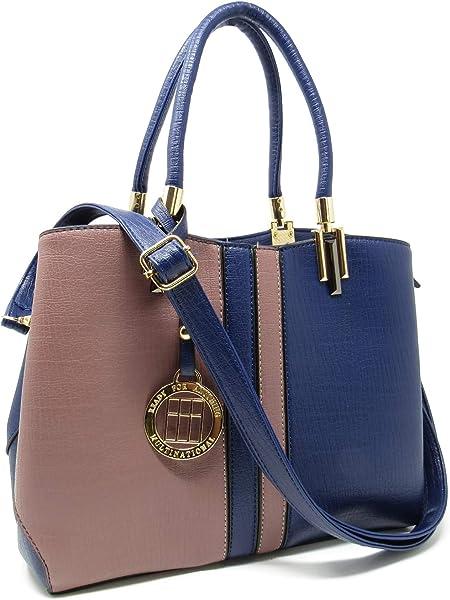 9b676406656d Ready For Anything Fashion Womens Girls Top Handle Purse Shoulder Bag Tote  Handbag (Chestnut