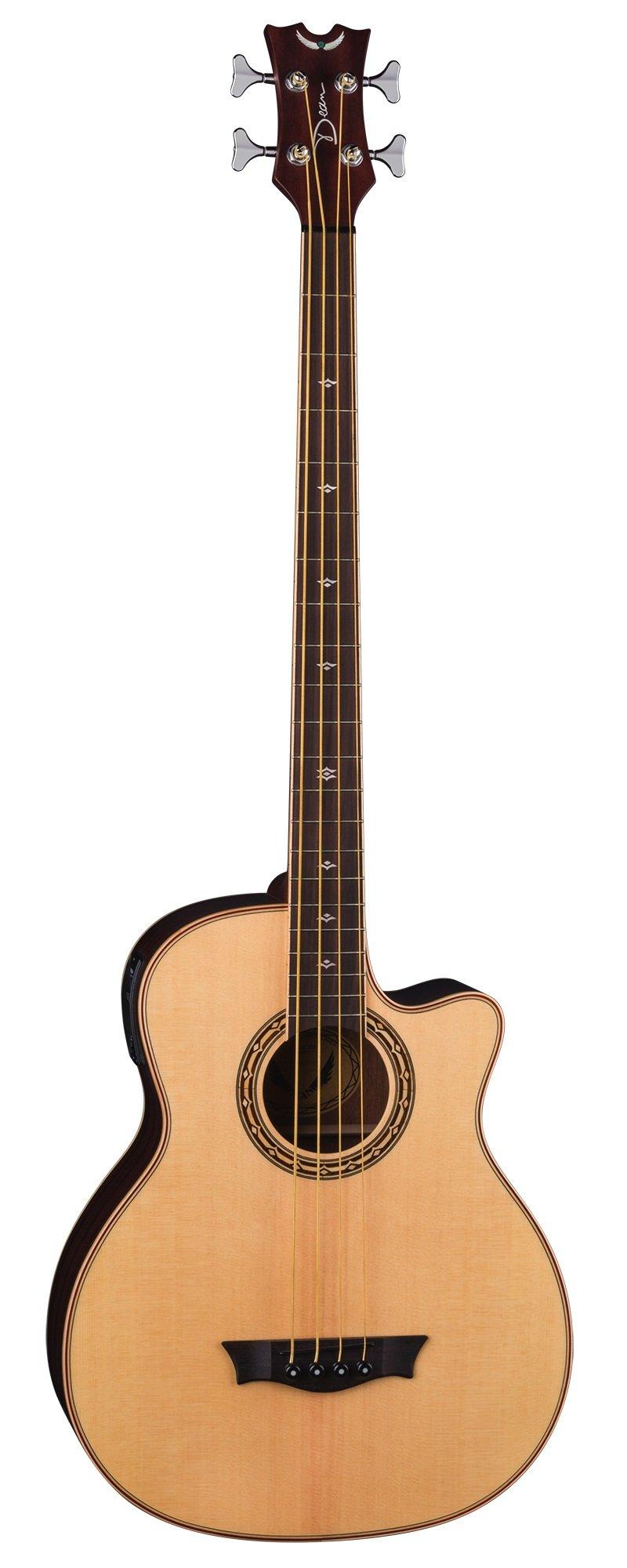 Dean EABCS SN 4-String Acoustic-Electric Bass Guitar, Natural