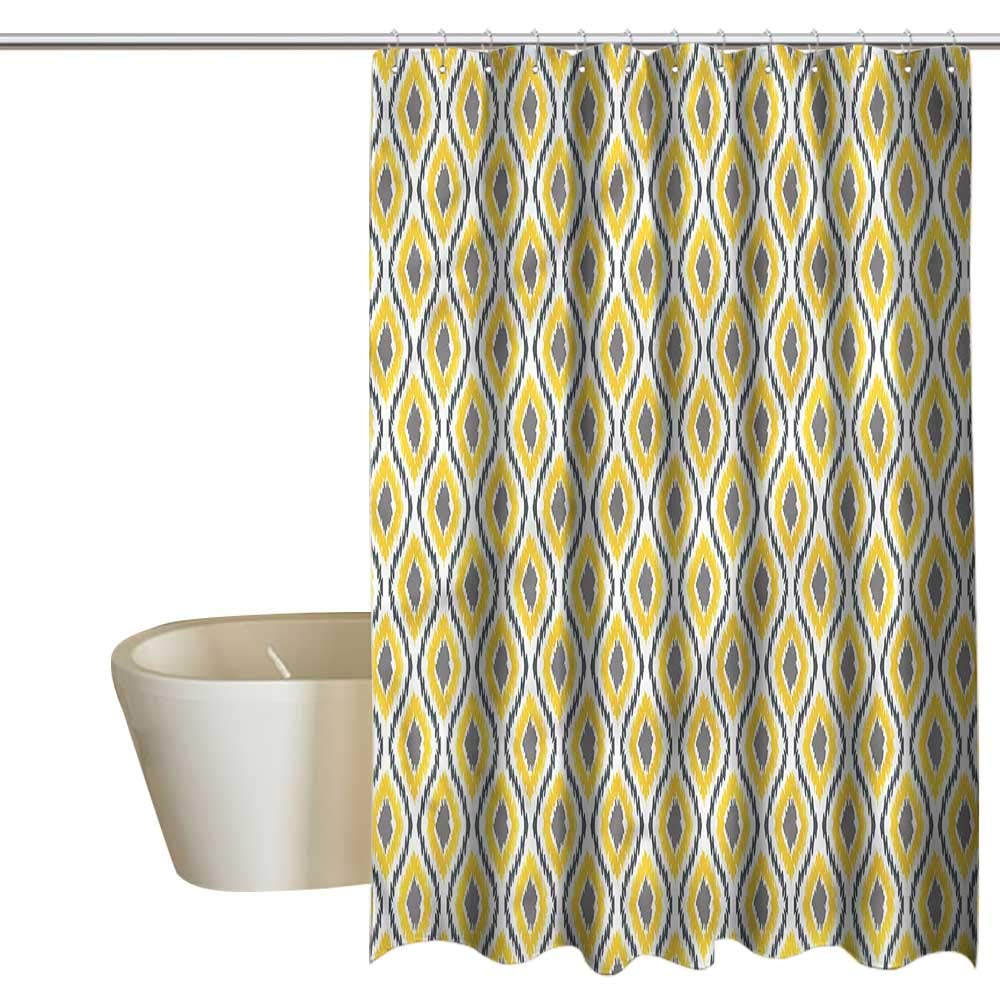 Denruny Shower Curtains Hooks Ikat,Contrast Oriental Culture Art,W55 x L84,Shower Curtain for Girls