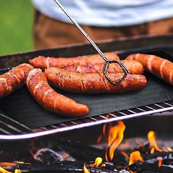 Grill Mat Set de 5, Non stick barbacoa Grill mats-deserti marcas, aprobado