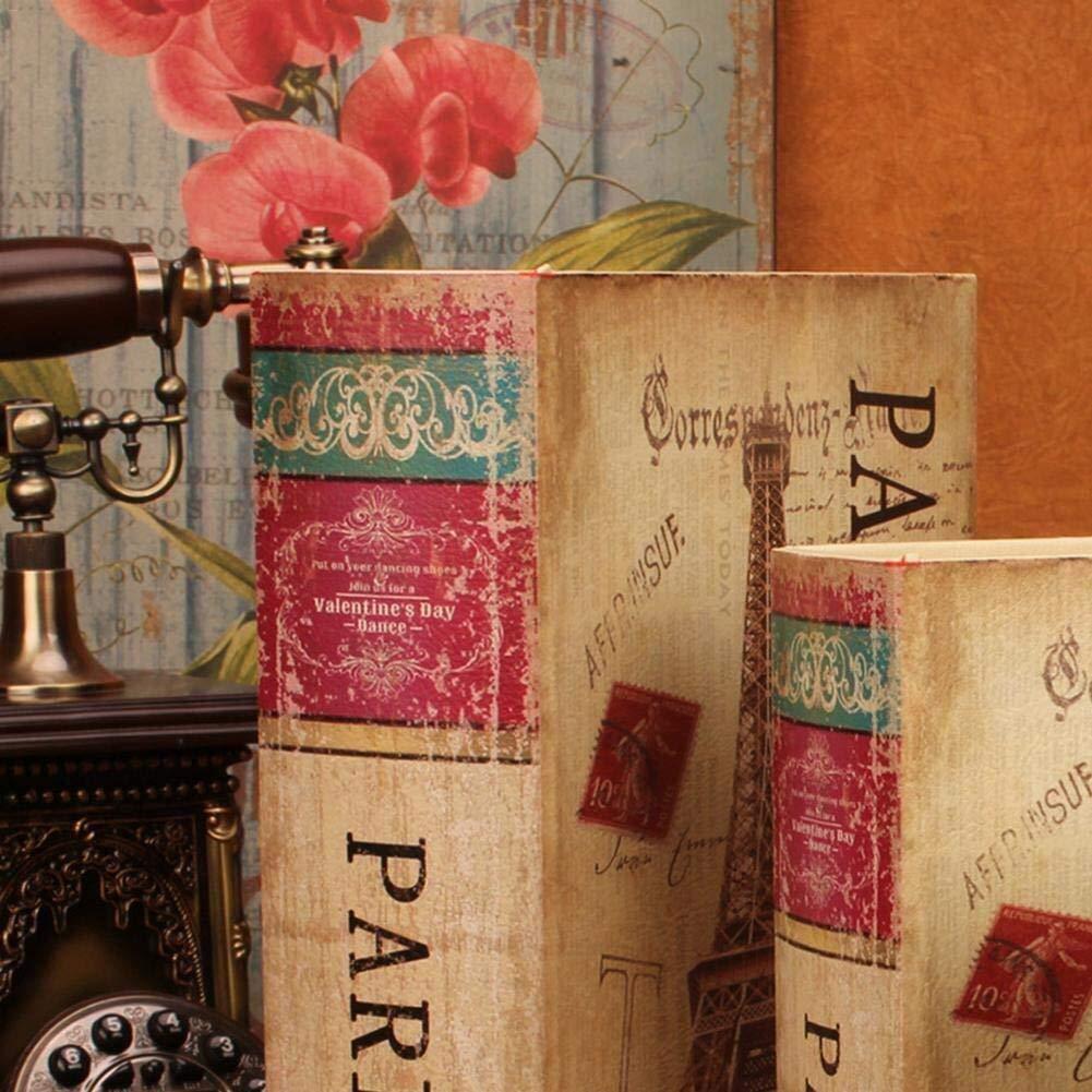gioielli oggetti di valore e altro Contenitori denaro Scatola di immagazzinaggio con coperchio Confezione da 3 scatole di libri decorativi sicuri for libri segreti Scatola di sicurezza for contanti