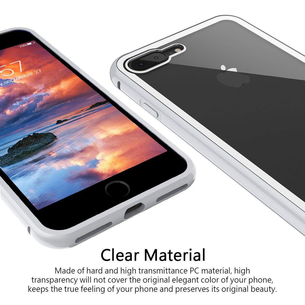 1ac8cad0bcf CE-Link Funda iPhone 7 Plus Funda iPhone 8 Plus Carcasa Fundas Magné tica  Cubierta de Trasera de Vidrio Templado Transparente ...