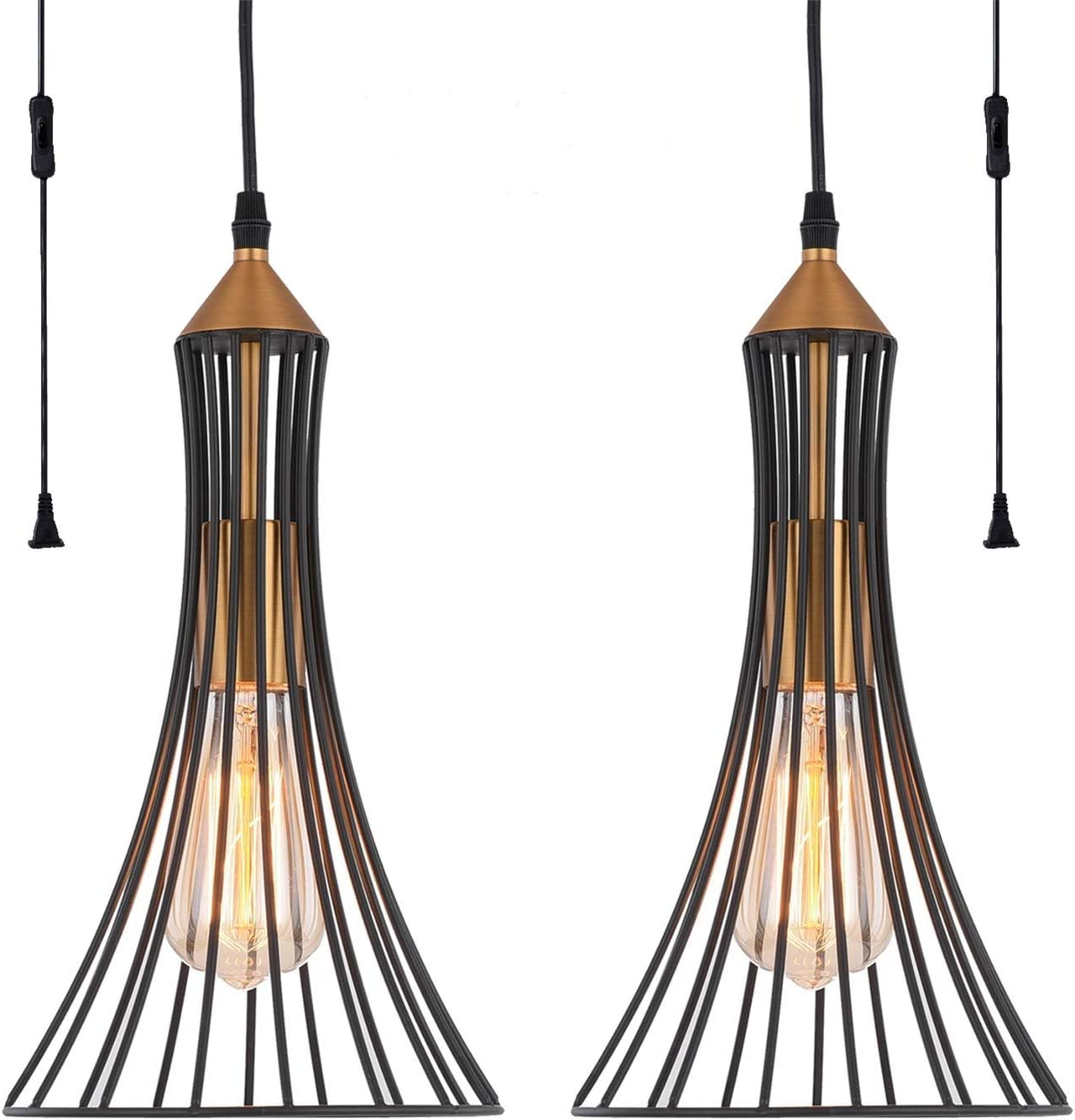 Plug in Pendant Light HOXIYA Hanging Ceiling Lights PL1901