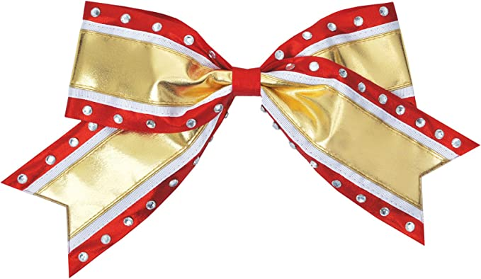 3 inch wide ribbon Maroon and Gold Disco Ribbon Bow