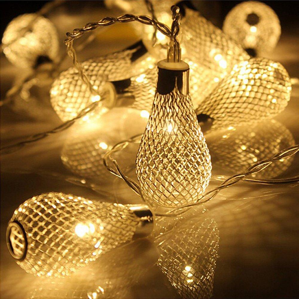 20er LED Lichterkette 2.2m Batteriebetriebene Weihnachtsbeleuchtung ...