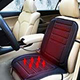 Car Heated Seat Cushion,12V Seat Hot Heater Heated Pad- Constant Temperature Protection function - Relieving Back and Leg Pressure Cushion Winter Warmer Cover Black