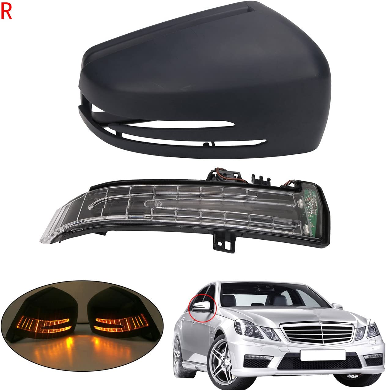 Right Side Mirror Indicator Turn Signal Blinker For Mercedes Benz W204 W212 W221