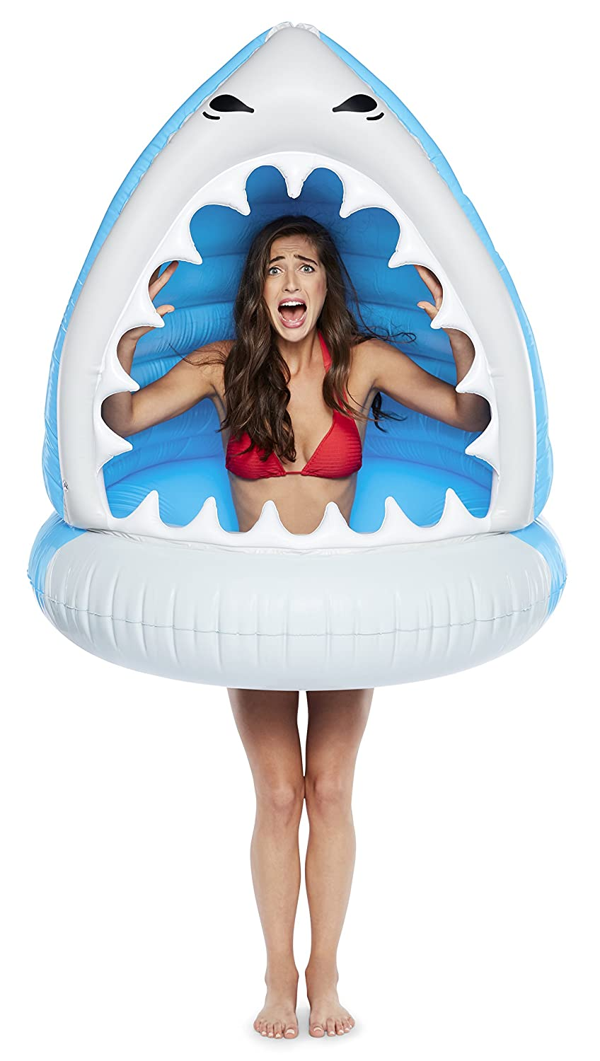 BigMouth Inc. Giant XL Pool Floats, Funny Inflatable Vinyl Summer Pool or Beach Toy, Patch Kit Included (XL Shark)