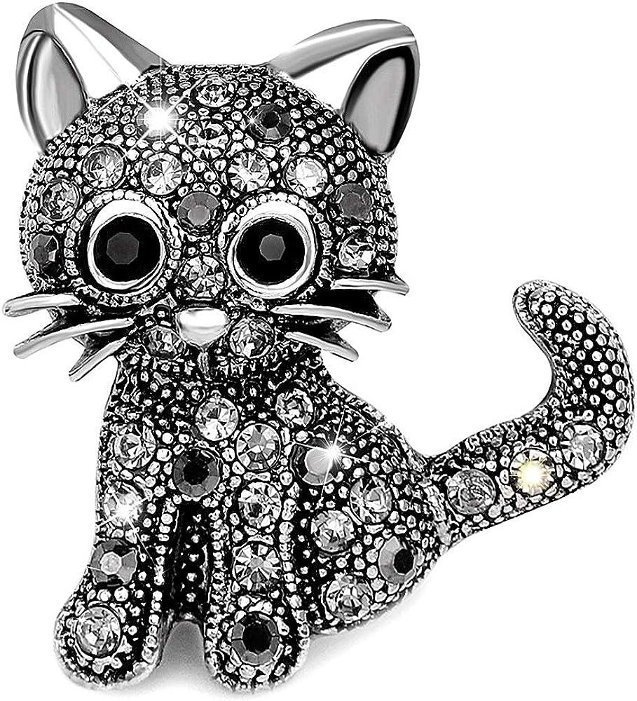 Chic Topaz Crystal Rhinestone Butterfly Filigree Design Costume Pin Brooch Decor
