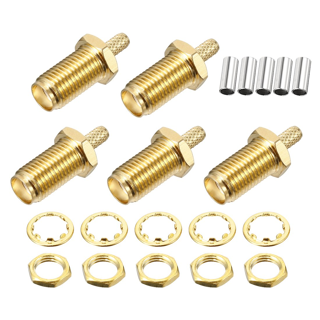 uxcell RP SMA Female to TNC Male Brass with 19.6 RG316 Cable RF Coaxial Coax Adapter 1pcs