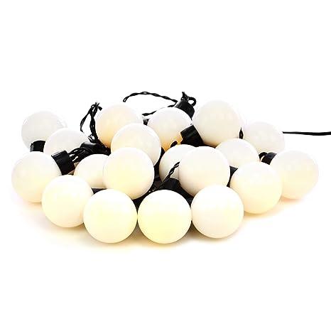 Guirnalda de 20 luces LED para fiestas y jardines, para exteriores