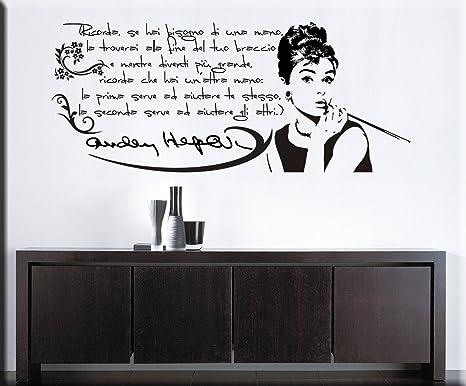 Adesivi Murali Audrey Hepburn.Essebi Adesivi Murali Audrey Hepburn Wall Stickers Audrey Hepburn