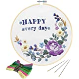 Full Range of Embroidery Starter Kit with Pattern, Kissbuty Cross Stitch Kit Including Embroidery Cloth with Plant…