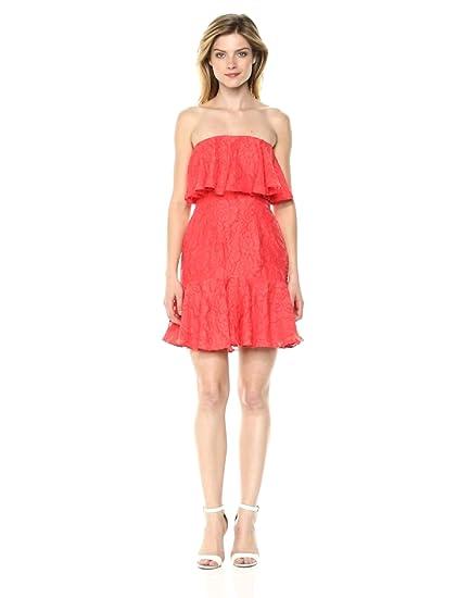 623fab8f998 Keepsake The Label Women s Radar Strapless Ruffle Mini Party Dress at  Amazon Women s Clothing store