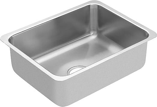 Moen G18192 1800 Series 18 Gauge Single Bowl Undermount Sink, Stainless  Steel