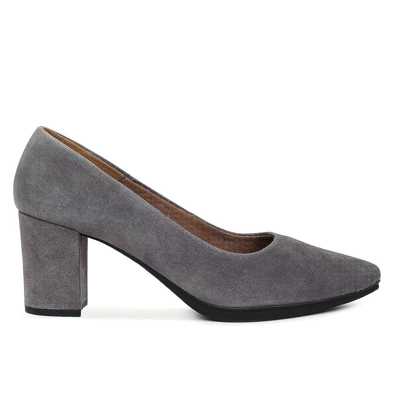 Zapatos Salón. Zapatos Piel Mujer Hechos EN ESPAÑA. Zapatos Tacón Gris. Zapato Mimao. Zapatos Mujer Tacón. Zapatos Mujer Fiesta y Baile Latino. Zapato Cómodo Mujer con Plantilla Confort Gel
