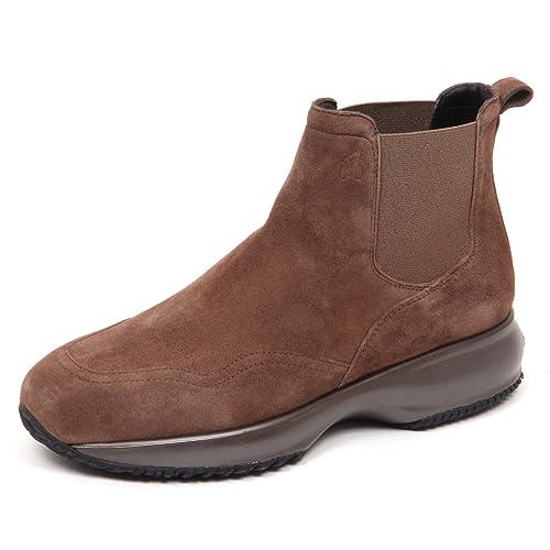 E0294 beatles donna brown HOGAN INTERACTIVE CHELSEA suede shoe woman