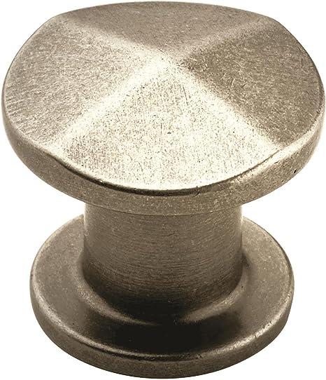 Amerock BP24009-WNC Galleria Signature 7 Knob Weathered Nickel Copper 30 mm Diameter