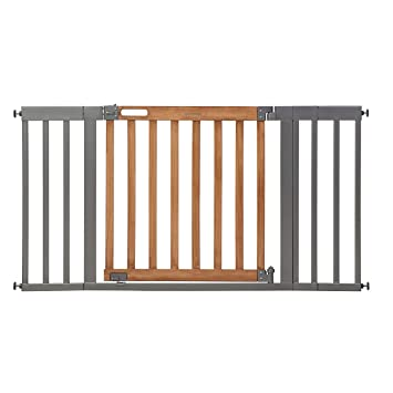 West End Auto >> Summer Infant West End Safety Gate 36 60 Wide 30 Tall For Doorways Stairways With Auto Close Hold Open Honey Oak Slate Grey 36 60