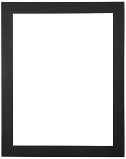 Amazon.com: 23x29 Smooth Black / Black Custom Mat for Picture Frame ...