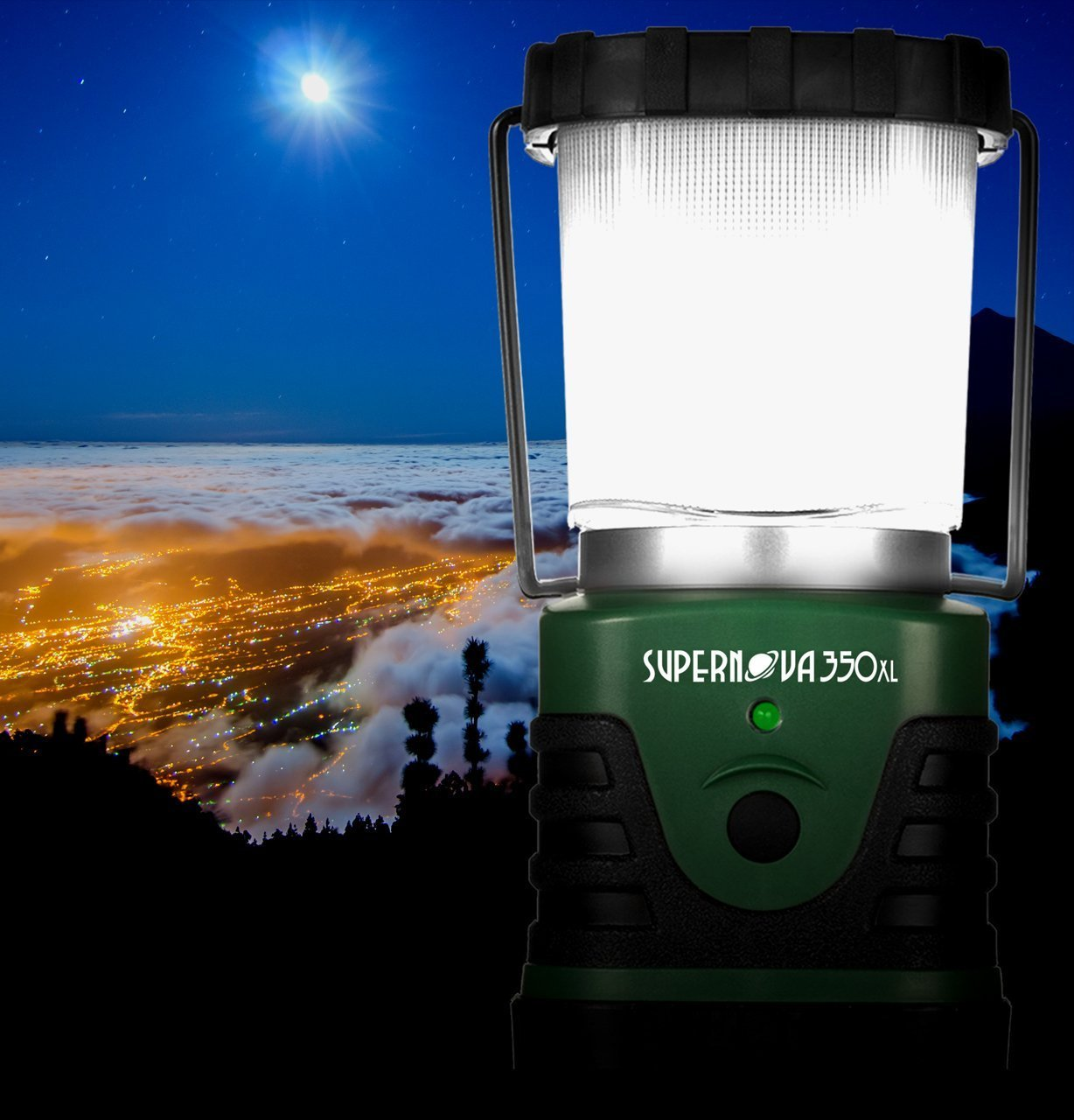 Supernova 500 Ultra Bright Camping /& Emergency LED Lantern Forest Green Intervine Consulting Inc.