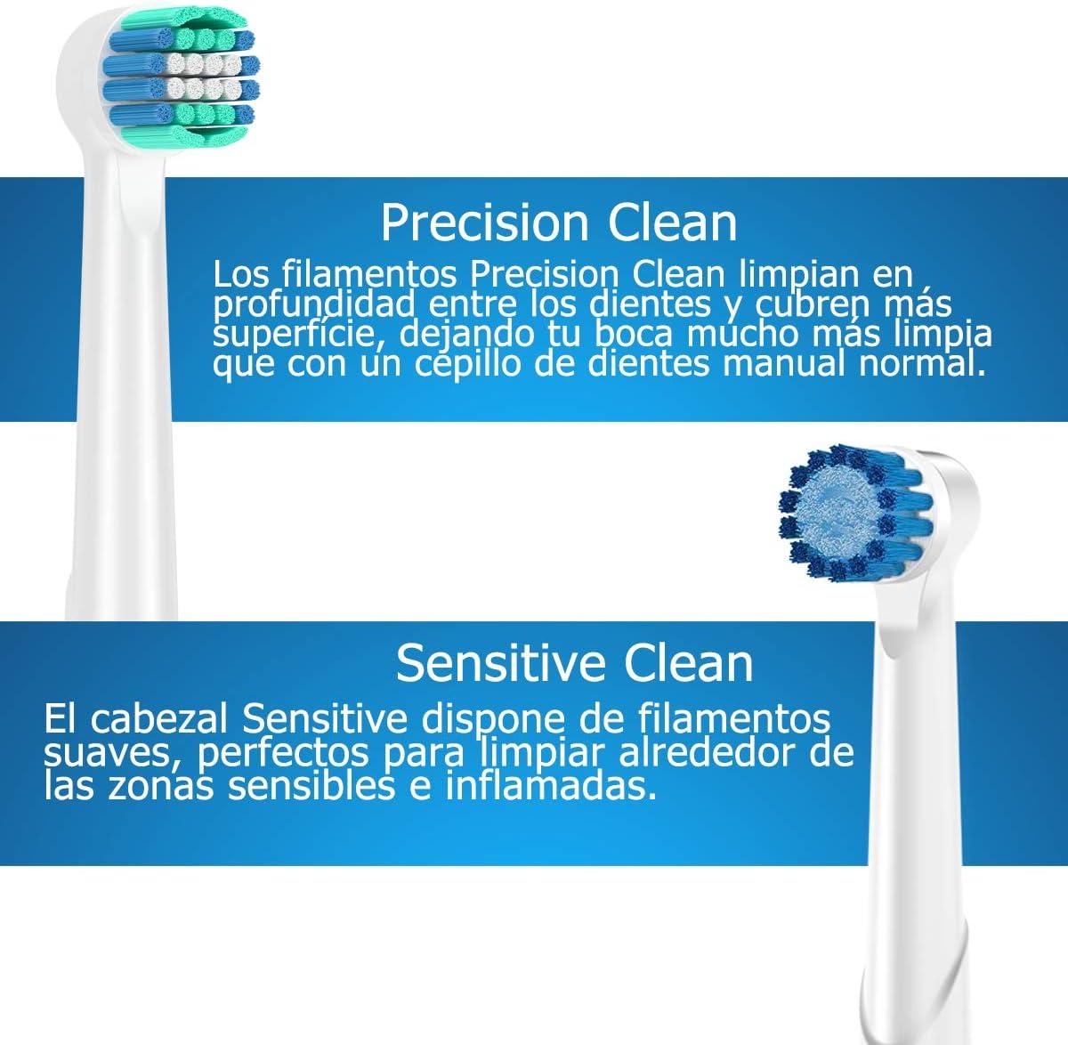 Qlebao Recambios Cepillo para Oral B, 16 Cabezales para Oral-B ...