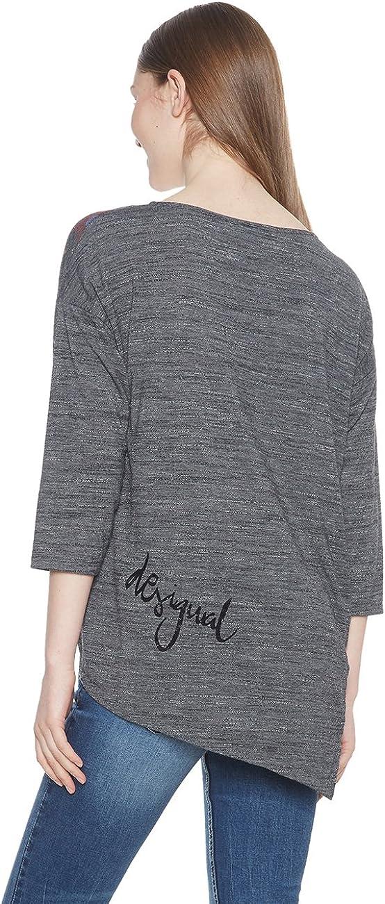 Desigual Women's Ts_uma T-Shirt (Dark Gray 2014)