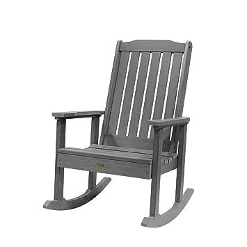 Amazoncom Highwood Lehigh Rocking Chair Coastal Teak Patio