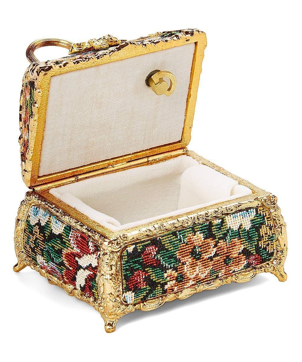 Tapestry Ladies Handbag Musical Jewelry Box plays Memory