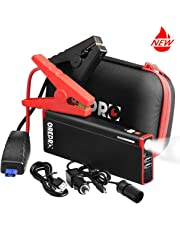 GREPRO Car Jump Starter Kit 1500A Peak 21000mAh Car Battery Charger, 12V Portable Battery Booster (up to 8.0L Gas, 6.5L Diesel), Power Pack with LED Light and Aluminum Alloy Shell